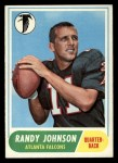 1968 Topps #203  Randy Johnson  Front Thumbnail