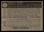 1952 Topps #61 BLK Tookie Gilbert  Back Thumbnail