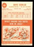 1963 Topps #88  Boyd Dowler  Back Thumbnail