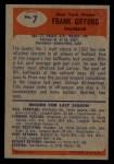 1955 Bowman #7  Frank Gifford  Back Thumbnail
