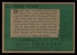 1956 Topps Davy Crockett #26 GRN  Sneak Attack  Back Thumbnail