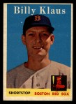1958 Topps #89  Billy Klaus  Front Thumbnail