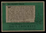 1956 Topps Davy Crockett #28 GRN  An Enemy Falls  Back Thumbnail