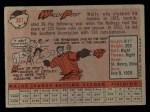 1958 Topps #387  Wally Post  Back Thumbnail