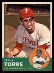 1963 Topps #161  Frank Torre  Front Thumbnail