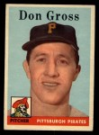 1958 Topps #172  Don Gross  Front Thumbnail