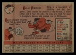 1958 Topps #50 ^WT^ Bill Pierce  Back Thumbnail