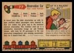 1955 Topps Rails & Sails #77   Observation Car Back Thumbnail