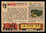 1955 Topps Rails & Sails #37   Refrigerator Car Back Thumbnail