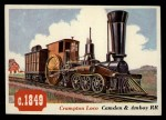 1955 Topps Rails & Sails #69   Crampton Locomotive Front Thumbnail