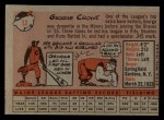 1958 Topps #12  George Crowe  Back Thumbnail