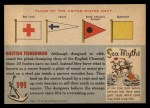 1955 Topps Rails & Sails #191   Hastings Lugger Back Thumbnail