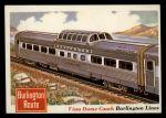 1955 Topps Rails & Sails #53   Vista Dome Coach Front Thumbnail