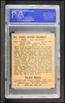 1940 Play Ball #87  Carl Hubbell  Back Thumbnail