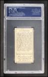 1911 T205  Cecil Ferguson  Back Thumbnail