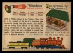 1955 Topps Rails & Sails #30   William Mason Back Thumbnail