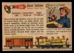 1955 Topps Rails & Sails #36   Diesel Switcher Back Thumbnail