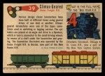 1955 Topps Rails & Sails #39   Climax-Geared Locomotive Back Thumbnail