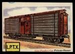 1955 Topps Rails & Sails #67   Live Poultry Car Front Thumbnail