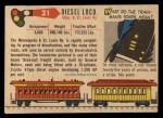 1955 Topps Rails & Sails #21   Diesel Loco Back Thumbnail