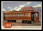 1955 Topps Rails & Sails #72   8-Wheel Trolley Front Thumbnail