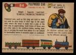 1955 Topps Rails & Sails #84   Pulpwood Car Back Thumbnail