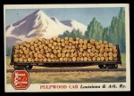 1955 Topps Rails & Sails #84   Pulpwood Car Front Thumbnail