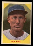 1960 Fleer #34  Sam Rice  Front Thumbnail