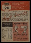 1953 Topps #96  Virgil Trucks  Back Thumbnail