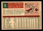 1959 Topps #6  Alex Grammas  Back Thumbnail