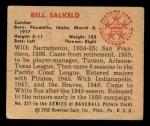 1950 Bowman #237  Bill Salkeld  Back Thumbnail