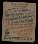 1949 Bowman #105  Bill Kennedy  Back Thumbnail