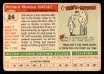 1955 Topps #26  Dick Groat  Back Thumbnail