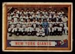 1957 Topps #317   Giants Team Front Thumbnail