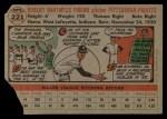 1956 Topps #221  Bob Friend  Back Thumbnail