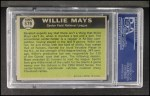 1961 Topps #579   -  Willie Mays All-Star Back Thumbnail