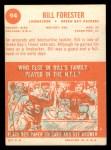 1963 Topps #94  Bill Forester  Back Thumbnail