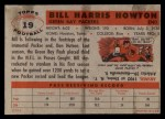 1956 Topps #19  Bill Howton  Back Thumbnail