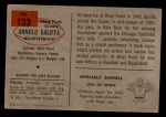 1954 Bowman #122  Arnold Galiffa  Back Thumbnail