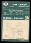 1960 Topps #95  Tom Tracy  Back Thumbnail