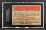 1952 Topps #401  Bob Schultz  Back Thumbnail
