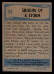 1956 Topps / Bubbles Inc Elvis Presley #55   Singing Up Storm Back Thumbnail