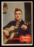 1956 Topps / Bubbles Inc Elvis Presley #43   Recording Session Front Thumbnail
