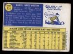 1970 Topps #134  Danny Walton  Back Thumbnail