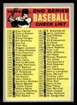 1970 Topps #128 ERR  Checklist 2 Front Thumbnail
