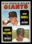 1970 Topps #401   -  John Harrell / Bernie Williams Giants Rookies Front Thumbnail