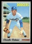 1970 Topps #260  Claude Osteen  Front Thumbnail