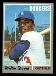 1970 Topps #390  Willie Davis  Front Thumbnail