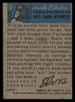 1956 Topps / Bubbles Inc Elvis Presley #5   Soft and Mellow Back Thumbnail