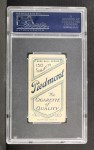 1909 T206 #67 BAT Fred Clarke  Back Thumbnail